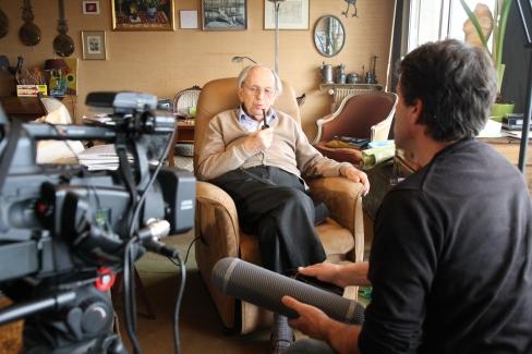 Raymond Aubrac sur le tournage