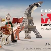 """Exposition """"Aardman, studio créateur de Wallace et Gromit, Shaun le mouton"""" à Paris jusqu'au 30 août 2015"""