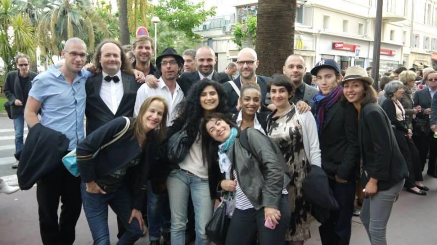 L'équipe du film au Festival de Cannes 2014 (sélection ACID)