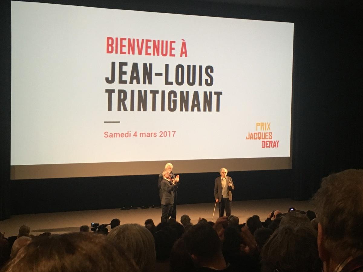 Projection exceptionnelle du film Credo en présence de Jean Louis Trintignant à l'Institut Lumière
