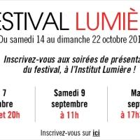 Séances de présentation - Festival Lumière 2017